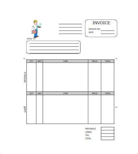 template independent contractor invoice example template nz free