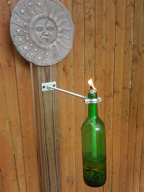 wine bottle tiki torch diy how to make a wine bottle tiki torch home design garden