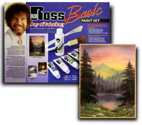 bob ross painting set paint set in wood pochade box national artcraft
