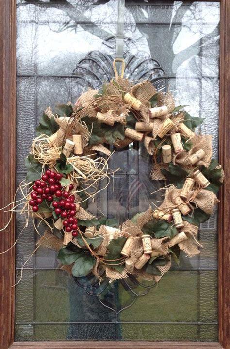burlap wine cork wreath wine cork wreath and cork wreath