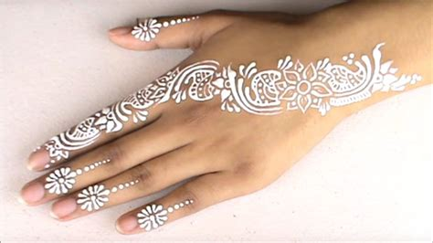 henna tattoo tutorial chrisspy white henna design for beginners eid special tutorial