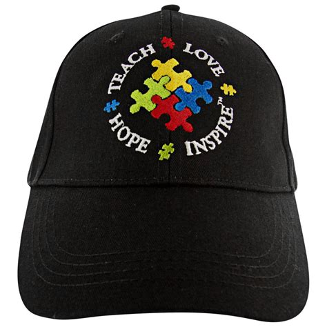 teach inspire embroidered baseball hat the