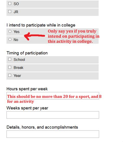 common application activities section sarah s guide to the common application