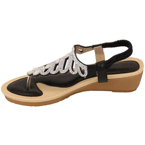 Fashion Shoes 806 Slip On sandals kelsi womens diamante slip on toe post shoes casual fashion new ebay