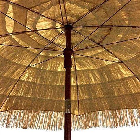 tiki patio umbrella easygo 6 5 ft thatch patio tiki umbrella nifty homestead