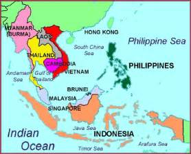 South And Southeast Asia Map by Southeast Asia