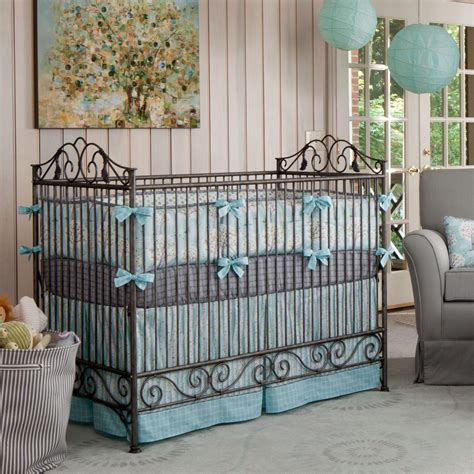 nursery bedding boy windy day crib bedding blue white and gray crib bedding