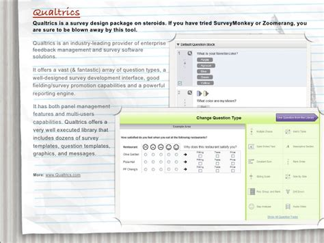 Six Interesting Online Research Tools Qualtrics Survey Templates