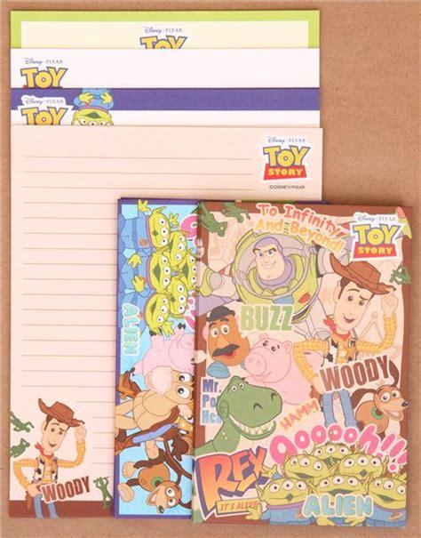 Disney Pixar Doodling Book Pencil Eraser Set 32 Page Book 6 G disney pixar story woody buzz letter set letter sets stationery shop modes4u