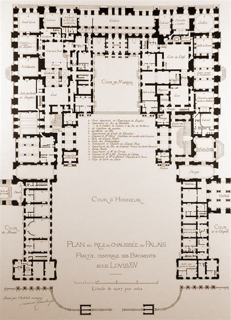 versailles floor plan universidad de navarra historia de la arquitectura