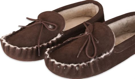 mens slippers soft sole nordvek mens genuine sheepskin moccasin slippers soft