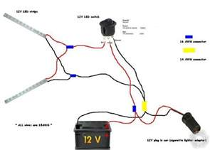 how to hook up led light strips in car 12v wiring diagram lights
