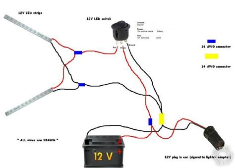 12v wiring diagram lights