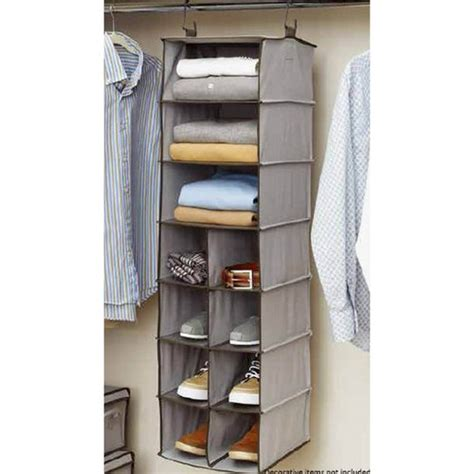 closet organizers at walmart better homes and gardens 11 compartment hanging closet