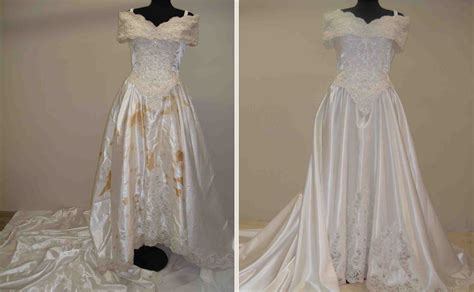 Wedding Dress Restoration photo gallery of vintage wedding gown restorations