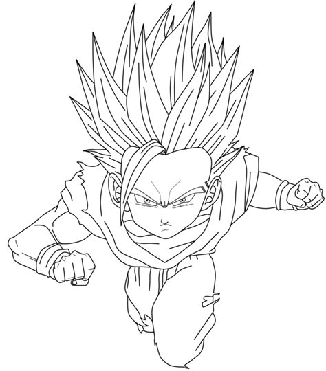 coloring page goku printable goku coloring pages coloring me