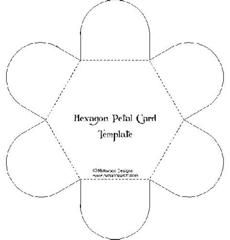 hexgonal card template petal hexagon card hexagons hexagon cards and cards