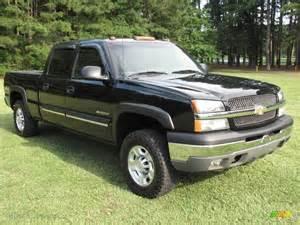 2003 black chevrolet silverado 1500 hd crew cab 4x4