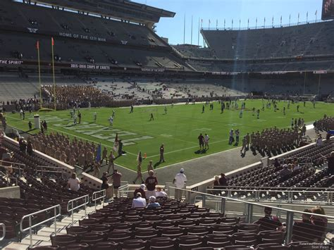 kyle field visitor section kyle field section 114 rateyourseats com