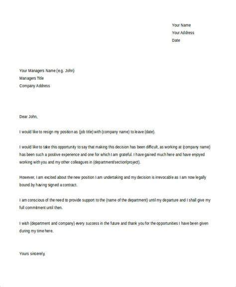 Resignation Letter For New by 30 Resignation Letter Formats Templates Pdf Doc