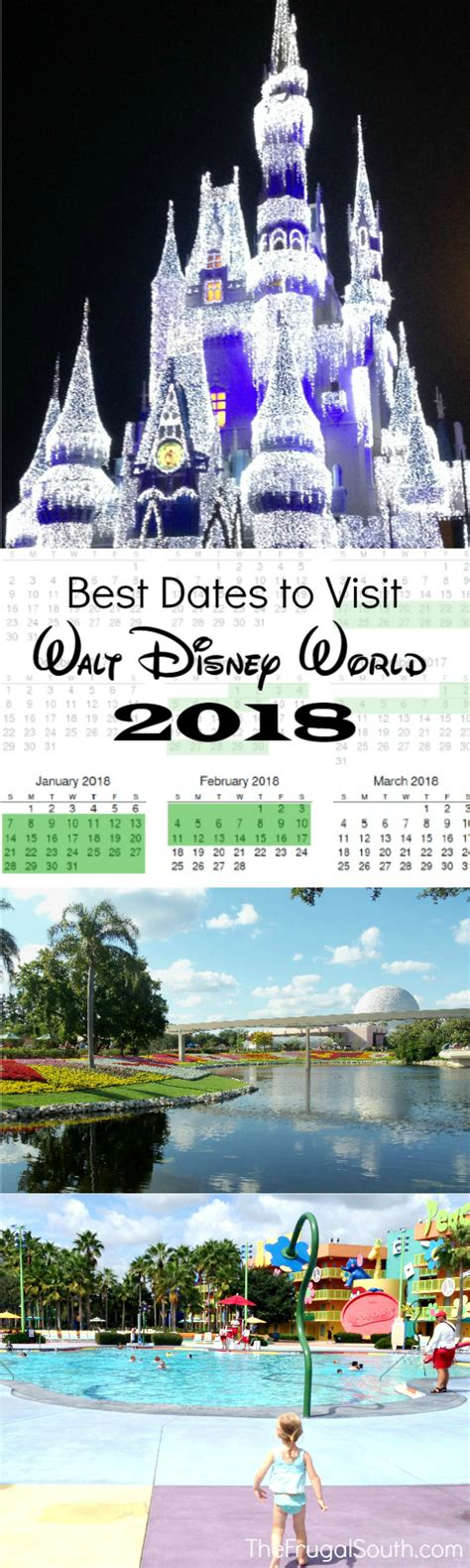 new year 2018 vacation period the best dates to visit walt disney world printable 2017