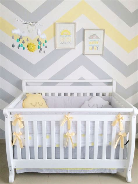 Chevron Nursery Decor 25 Best Ideas About Gray Yellow Nursery On Baby Room Gray Nursery And Yellow