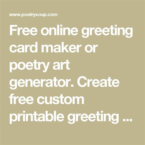 free printable greeting card generator 1000 ideas about poetry online on pinterest magnetic