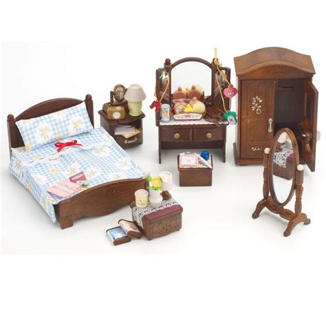 toys sylvanian families deluxe master bedroom set