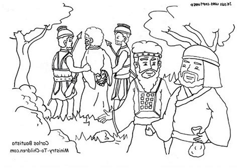 coloring pages jesus in gethsemane coloring page judas betrays jesus the garden gethsemane