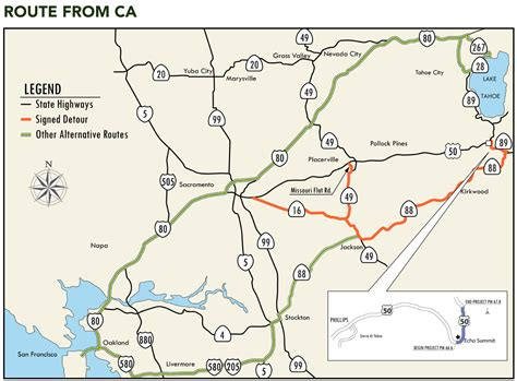 map us highway 50 caltrans to shut highway 50 for two weeks this