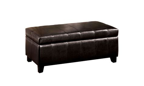 palmer ottoman 14 off on palmer espresso padded faux l groupon goods