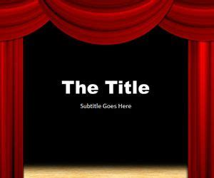 Theater Powerpoint Template Microsoft Powerpoint Templates Theatre