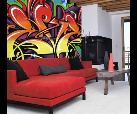 Graffiti Art Home Decor | braxton and yancey graffiti d 233 cor street art in home