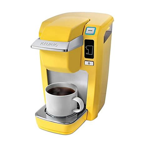 keurig bed bath and beyond keurig 174 k15 mini plus brewing system in banana yellow