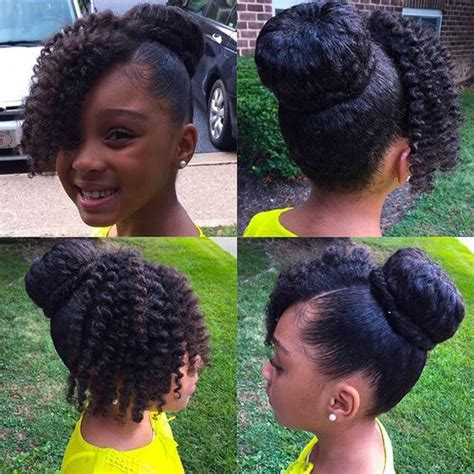 teen hairstyles for black girls bun and bang buns curly bangs and natural hairstyles on pinterest