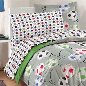 Soccer Bed Set Soccer Balls Bedding Set 5pc Comforter Sheets