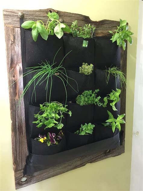 wall planter indoor 12 pocket indoor waterproof vertical living wall planter