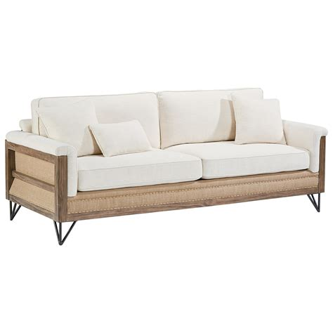 exposed wood frame sofa paradigm sofa with exposed wood frame by magnolia home by