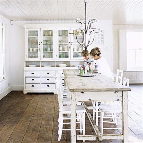 white shabby chic kitchen kitchens pinterest