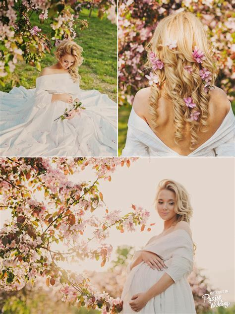 This cherry blossom inspired maternity session is utterly