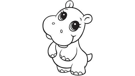 hippo coloring page learning friends hippo coloring printable