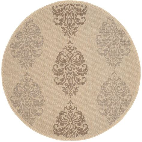 5ft Rug by Safavieh Courtyard Brown 5 Ft 3 In X 5 Ft 3 In