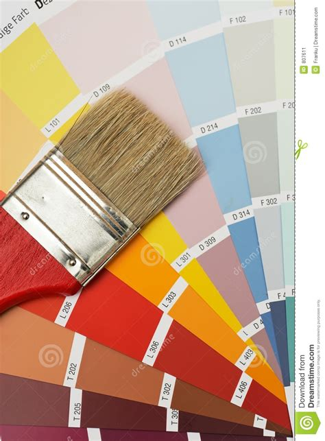 brush on colorcharts stock image image 807611