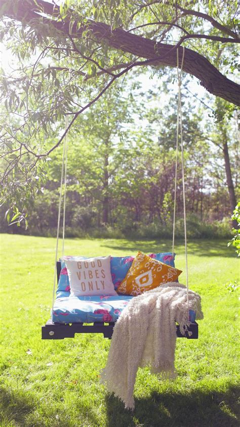 small patio swing 25 best ideas about pallet furniture instructions on