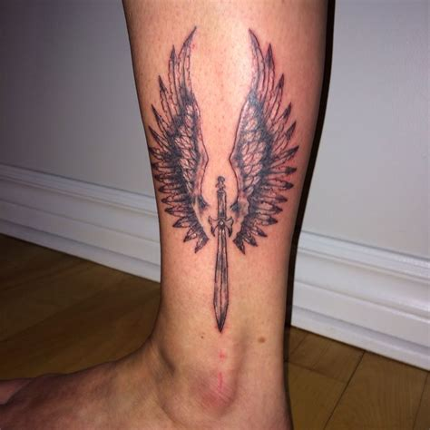 Tattoo Angel With Sword | sword angel wings tattoo by ranz tattoos pinterest