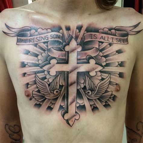 cross clouds tattoo 46 cross tattoos ideas for and inspirationseek