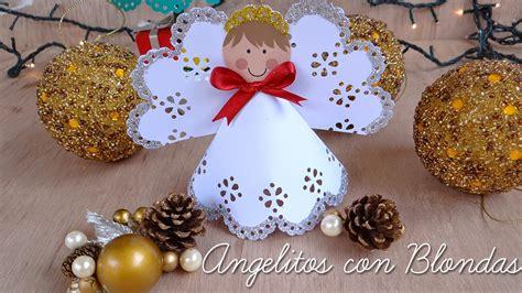 angelitos con periodoco mi fiesta ideal angelitos navide 241 os con blondas de papel