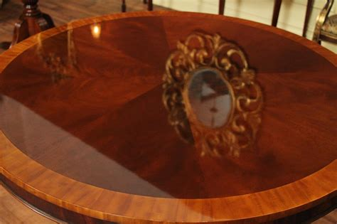 round mahogany dining table 44 quot reproduction antique round mahogany dining table 44 quot reproduction antique