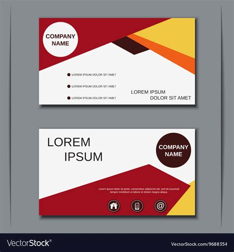 designer visiting cards templates visiting card design template royalty free vector image