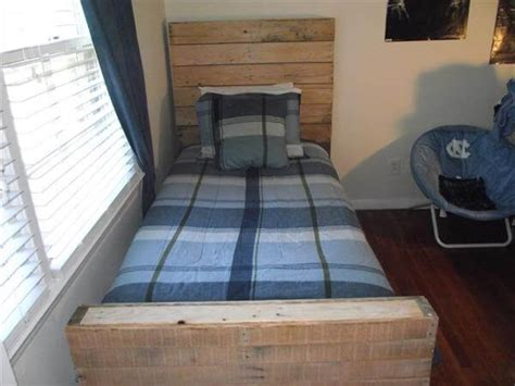 bed made from pallets diy twin bed made from pallets pallet furniture diy